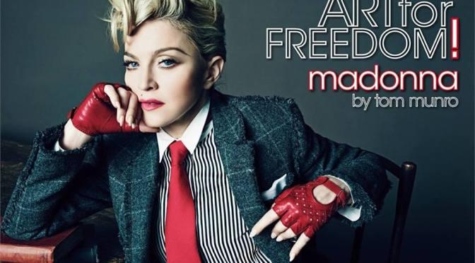 """De Italiaanse Vogue met … Madonna (Eindelijk weer """"gewoon"""" Topless)"""